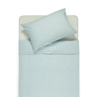Bērnu katūna gultas veļa LITTLE CHECKS 30-0200-BLUE