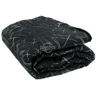 Bedspread METALIC 70-0018-BLACK/SILVER