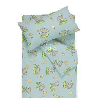 Children bedding set BABY ELEPHANT PARTY 10-0212-L.BLUE