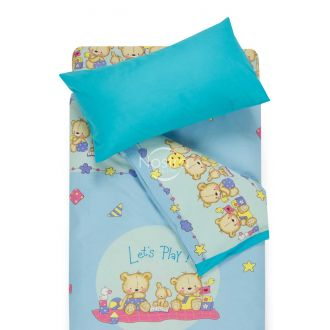 Children bedding set BEARS 10-0215/00-0358-L.BLUE/BLUE ATOL