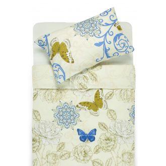 Kokvilnas gultas veļa DORRIS 40-1017-BLUE