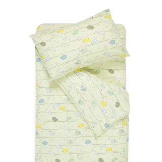 Children bedding set BIRDS 10-0495-L.CREAM