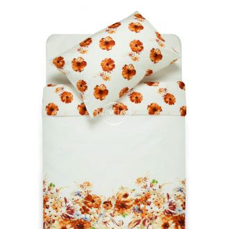 Sateen bedding set ADELAIDA 20-1369/20-1370-ORANGE