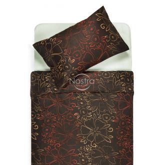 Sateen bedding set ACANTHA 20-1446-CHOCO