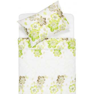Sateen bedding set ABRIANA 20-1347-GREEN