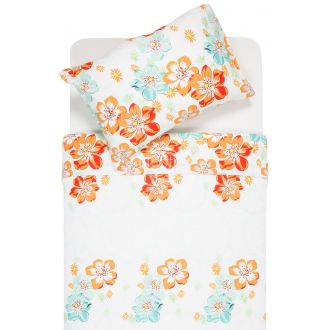 Sateen bedding set ABRIANA 20-1347-ORANGE