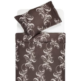 Sateen bedding set ADINAH 40-0739-BROWN
