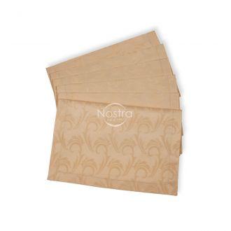 Jacquard sateen napkins, 6 pcs 80-0005-CREAM