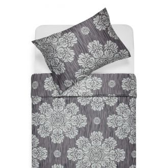Sateen bedding set ALEXIS 40-0882-IRON GREY