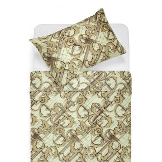 Sateen bedding set ADAIRA 20-0886-BEIGE