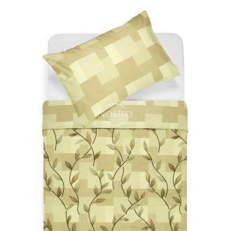 Kokvilnas gultas veļa DREW 30-0565/40-0376-BROWN