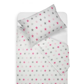 Children bedding set STARS 10-0052-L.GREY/L.PINK