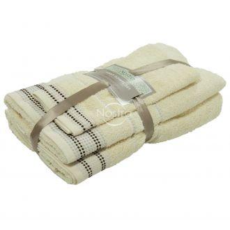 3 pieces towel set EXCLUSIVE T0044-VANILLA