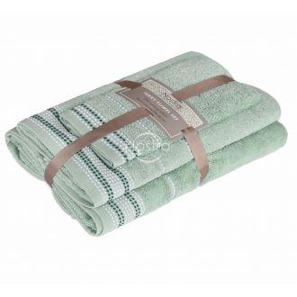3 pieces towel set EXCLUSIVE T0044-SAGE
