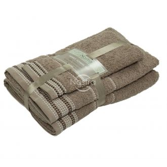 3 pieces towel set EXCLUSIVE T0044-ALMOND