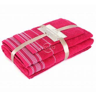 3 pieces towel set EXCLUSIVE T0044-FUCHSIA
