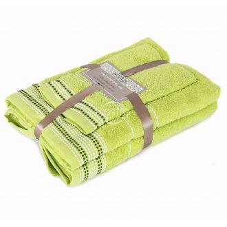 3 pieces towel set EXCLUSIVE T0044-GRASS