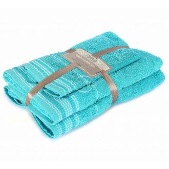 3 pieces towel set EXCLUSIVE T0044-AQUA
