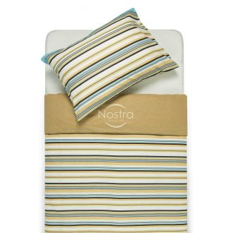 Kokvilnas gultas veļa DAKOTA 30-0249-BLUE BROWN