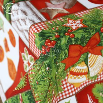 Cotton tablecloth 40-0829-RED