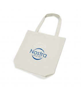 Organic cotton shopping bag 00-0076-NATURAL LOGO