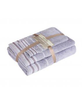 3 pieces towel set T0044 T0044-GREY BLUE