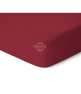Fitted jersey sheets JERSEY JERSEY-WINE RED