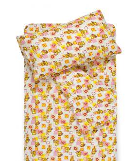 Bērnu flaneļa gultas veļa SMALL BEARS 10-0384-PINK