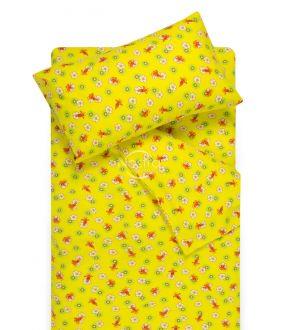 Children flannel bedding set LITTLE BEES 10-0130-YELLOW