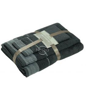 3 pieces towel set T0044 T0044-ANTHRACITE