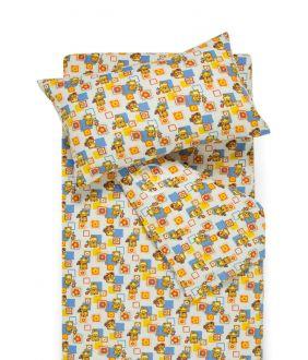 Детское фланелевое постельное белье SMALL BEARS 10-0384-BLUE