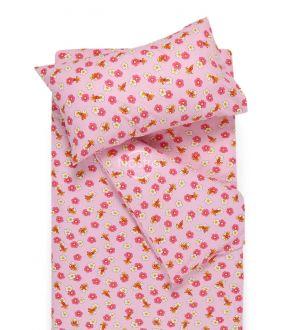 Children flannel bedding set LITTLE BEES 10-0130-PINK