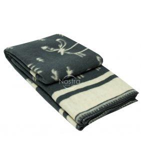 Шерстяное одеяло из мэриноса 80-3190-DARK GREY