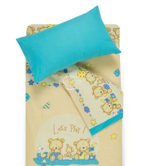 Детское постельное белье BEARS 10-0215/00-0358-BEIGE/BLUE ATOL