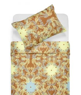 Premium maco sateen bedding set CAROLINE 40-0631-YELLOW