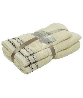 3 pieces towel set T0044 T0044-VANILLA