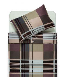 Sateen bedding set ALLIE 30-0432-BROWN