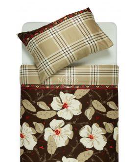 Sateen bedding set ALINA 20-0073-BROWN