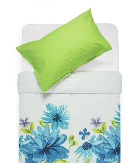 Kokvilnas gultas veļa DORYS 20-1338/00-0002-BLUE/L.GREEN