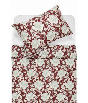 Renforcé bedding set NORA 20-0059-BORDO
