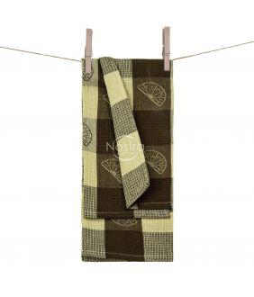 Kitchen towel WAFEL-240 T0104-L.BROWN