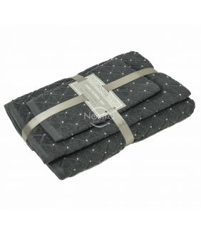 3 pieces towel set T0107 T0107-ANTRACITE