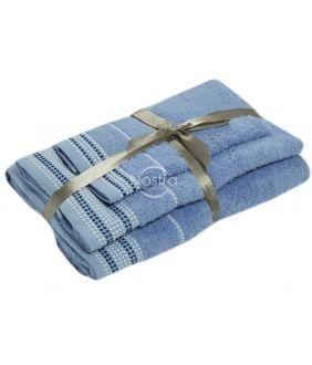 3 pieces towel set T0044 T0044-SOFT BLUE