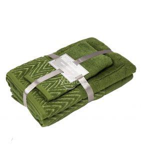 3 pieces towel set T0108 T0108-MOSS GREEN