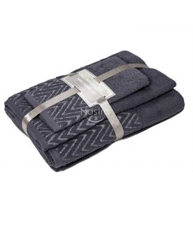 3 pieces towel set T0108 T0108-EXC.GREY