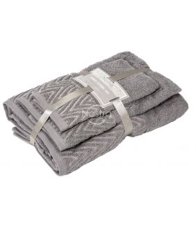 3 pieces towel set T0108 T0108-DARK TAUPE