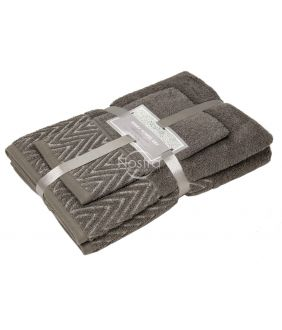 3 pieces towel set T0108 T0108-BROWN 393