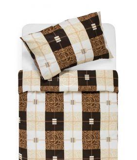 Kokvilnas gultas veļa DYNA 40-1078-BROWN