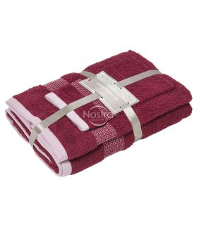 3 pieces towel set T0106 T0106-BURGUNDY