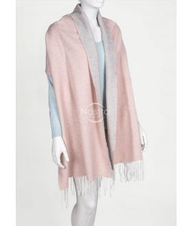 Šalle MAROCCO-325 DOUBLE FACE-L.GREY PINK